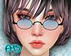 [AB]90'S Glasses Blue