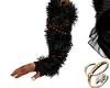 Fur Gloves Black N Nail
