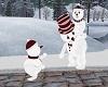 CHRISTMAS FAMILY SNOWMAN