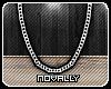 `N 80's Silver Chain