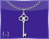 {-} Key Necklace   Slvr