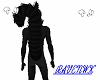black furry long
