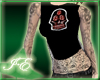 *IE Skull Lace Top