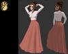 Pink skirt & blouse