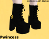 Yellow Goth Babie Boots