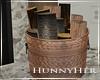H. Copper Firewood Basket