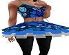 Female Blue Heart tutu