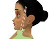 Ruby/Pearl Hair Beads