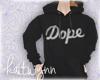 dope hoodie black   f