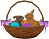 EASTER BASKET W/ BUNNY