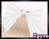 [S] White Hair Bow(back)