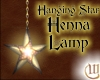 Hanging Star Henna Lamp