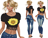 TF Sunflower Top & Jeans