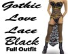 Gothic Love Lace Black