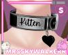 Kitten Heart Collar Blk