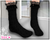 black socks lace