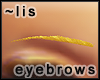 Eyebrows: gold II