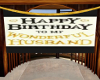 Husband Birthday Banner