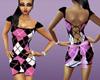 pink n black plaid dress