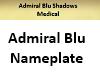 Admiral Blu Nameplate