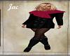 JAC..WOOL BLK PINK SCARF