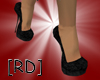 [RD]Black Velvet Pumps M