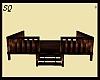 Dark Stained Wooden Deck