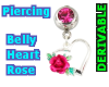 Belly Heart Rose