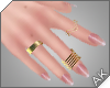 ~AK~ Nude + Gold Rings