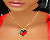 Collier coeur rouge M32