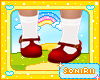 KID RED SHOES WITH SOCKS