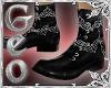 Geo Dress Boots Black