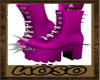 Purple Spike Shoes