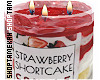 Strawberry Cake Candle