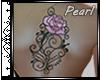 [P]Tattoo-Bk PinkRose