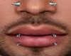 2 Lip Piercings