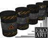 Oil Barrel Barricade