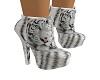 white tiger print shoes