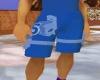 frat blue silver shorts