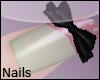 +Pink Nails/Black Bows+