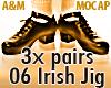 IRISH JIG 06  - 3x pairs