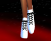 white shoesw/blk.laces