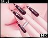 金. Cross Nails + Rings