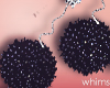 Black Fur Earrings