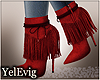 [Y] Cardi red boots