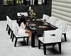 White & Black dining set