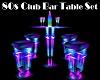 80s Club Bar Table Set
