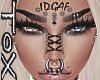 IDGAF FACE TATT/PIERCING