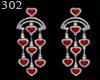 302 heart diamond earrin
