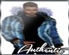 Men's Blue Winter Jacket